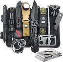 Emergency EDC Survival Kit Set Outdoor Tactical Survival Gear Military Travel Survival Tools Blanket Bracelet Camping Equipment