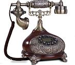 European Fashion Vintage fixed Telephone key Dial Antique Landline Phone For Office Home Hotel made of resin rilievo antika