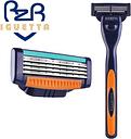 Gillette-cuchillas de afeitar para hombre, casetes de afeitado para el cuidado Facial, de alta
