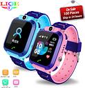 LIGE IP67 waterproof kids watch LBS tracker Child anti-lost SOS alarm smart watch Support 2G SIM card boys girl Gift watch Reloj