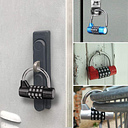 Combinación multifuncional, candado de seguridad de 4 dígitos, casillero de gimnasio, cajón, armario