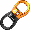 Safest Rotational Device Hanging Accessory(30KN)Swing Swivel Connector for Rock Climbing Mountaineering Rappelling Rescue