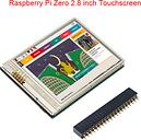 2.8 inch Raspberry Pi Zero Touch Screen 60 FPS HD LCD + GPIO Header for Raspberry Pi 4 Model B/3B+/3B/Zero W