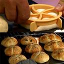 1 ud. Cortador de mezcla de masa de plástico prensa de galletas moldes de rollos de pan caseros
