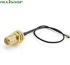 ALLiSHOP sma pigtail SMA female socket jack to U.FL IPX connector 1.13 cable pigtail for Wifi router phone wireless AP PCI