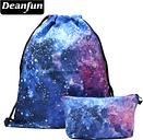 Deanfun 2PCS/Set Drawstring Bag Colorful Space for Girl School Storage 020