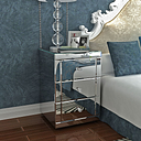Preselling Panana Mirrored Bedside Cabinet/Bedside Table/Chest of 3 Drawers Bedroom Nightstand Table de chevet Fast delivery