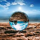 Bola de cristal grande transparente bola de cristal suerte Arco Iris foto bola de cristal