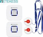 RETEKESS Wireless Medical Call System Pager Call Button + Receiver Nurse Call Alert Patient Help System For Home Care/Hospital