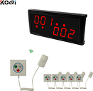 Hospital Nurse Call System of 1 big size LCD display 6 multi-button emergency Panic Alarm System Pagers Wireless