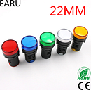 Indicator Signal Lamp Light Waterproof ad16-22ds 22mm AC/DC 12V 24V 110V 220V 380V Red Green Yellow Blue White LED Bulbs 20mA