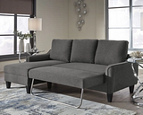 Jarreau Sofa Chaise Sleeper, Gray