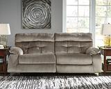 Brassville Reclining Sofa, Graystone