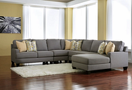 Chamberly 5-Piece Sectional with Chaise, Alloy