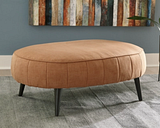 Hollyann Oversized Accent Ottoman, Rust