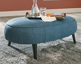Hollyann Oversized Accent Ottoman, Blue
