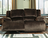 Clonmel Reclining Loveseat, Chocolate