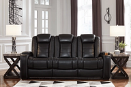 Party Time Power Reclining Sofa, Midnight