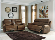 Austere Sofa and Loveseat, Brown