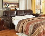Banner Queen Sofa Sleeper, Coffee Leather