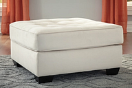 Filone Oversized Accent Ottoman, Ivory