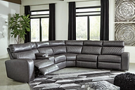 Samperstone 6-Piece Power Reclining Sectional, Gray