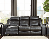Kempten Reclining Sofa, Black