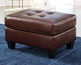 Altonbury Ottoman Leather, Walnut