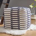 Lanka Pouf, Blue/White