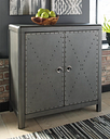 Rock Ridge Accent Cabinet, Gunmetal Finish