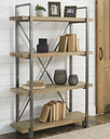 Forestmin Bookcase, Brown/Black