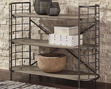 Flintley Bookcase, Brown/Gunmetal