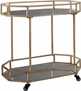 Daymont Bar Cart, Gold Finish