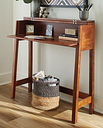Trumore Sofa/Console Table, Medium Brown