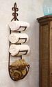 Metal Hanging Towel Rack With Basket, Natural