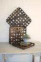 Square Woven Split Wood Baskets (Set of 3), Brown