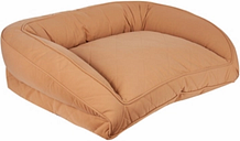 Poly Fill Large Quilted Microfiber Bolster Pet Bed, Saddle