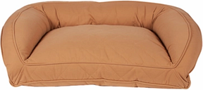 Ortho Large Quilted Microfiber Bolster Pet Bed, Saddle