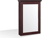 Mirrored Wall Medicine Cabinet, Espresso