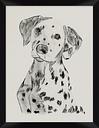 Giclee Dalmatian Wall Art, Black/White