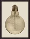 Giclee Vintage Bulb Wall Art, Brown
