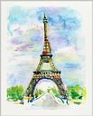 Giclee Eiffel Tower Wall Art, Multi