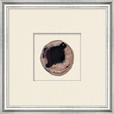 Shadowbox Black Agate Slice Wall Art, Black