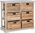 Six Tiered Basket Storage Chest, Vintage Gray