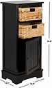 Floor Storage Cabinet, Distressed Black