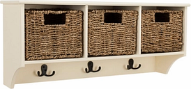 Three Basket Storage Shelf, White