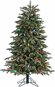 Decorative 4' Pre-Lit Lightly Flocked Smoky Mountain Pine Tree, Green