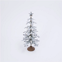 "Decorative 27.8"" Metal Tabletop Evergreen Tree with Star Topper Accent, Green/White"