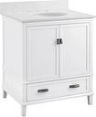 "Traditional Rosemary 30"" Bathroom Vanity, White"