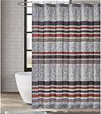Pem America London Fog Warren Stripe Shower Curtain, Gray/Black